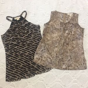 MICHAEL Michael Kors Tops - Micheal Micheal Kors silk tops bundle of 2